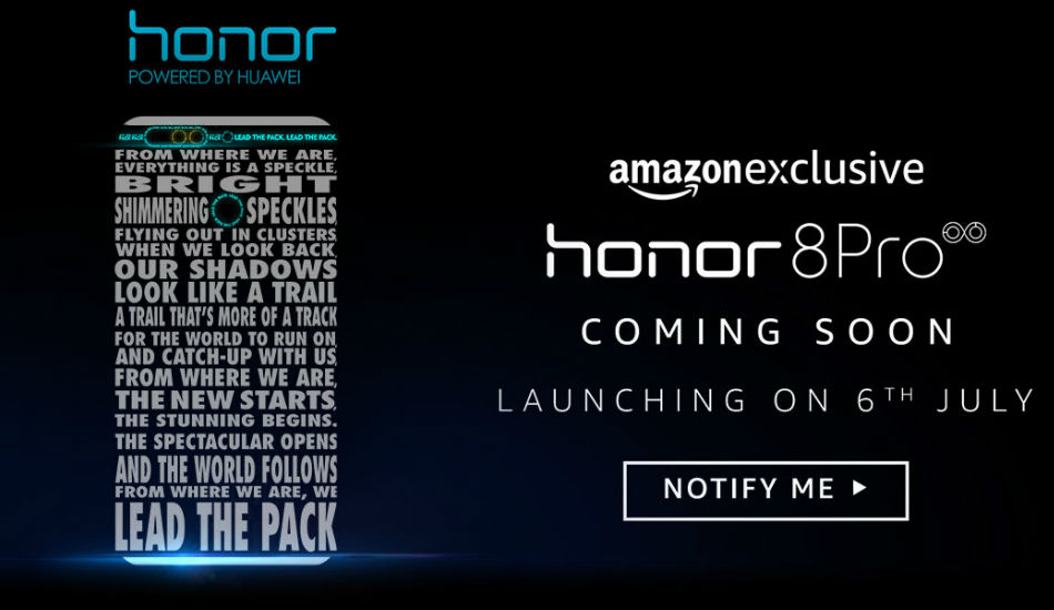 Huawei Honor 8 Pro to launch in India on 6th July