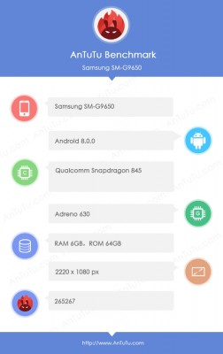 Samsung Galaxy S9+ revealed on AnTuTu