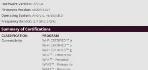 Samsung Galaxy A6 certified