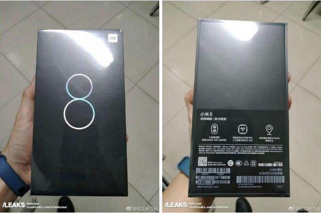 Xiaomi Mi 8 retail box leaked