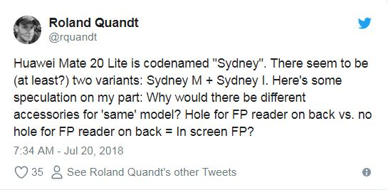 Huawei Mate 20 Lite on twitter