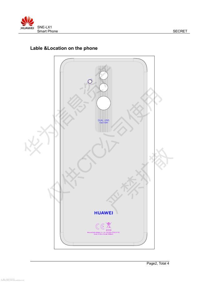Huawei Mate 20 Lite schematic diagram
