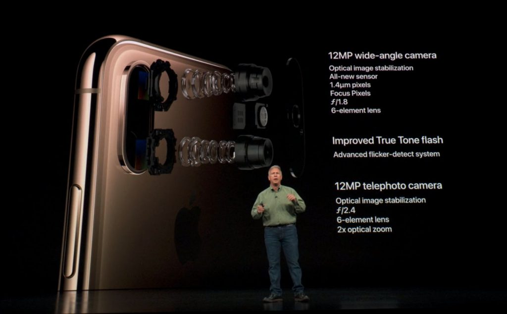 Apple iPhone XS camera setup