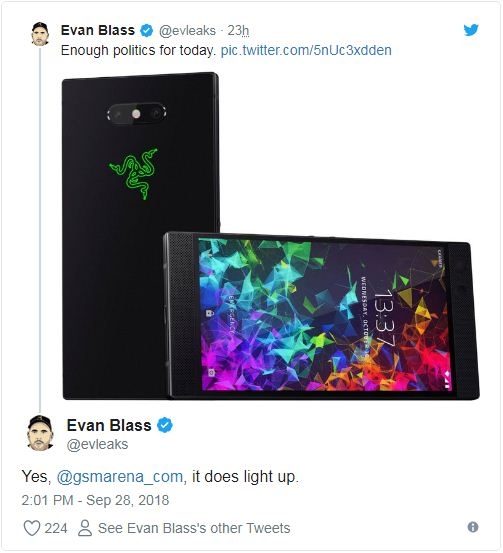 Razer Phone 2 leaks design