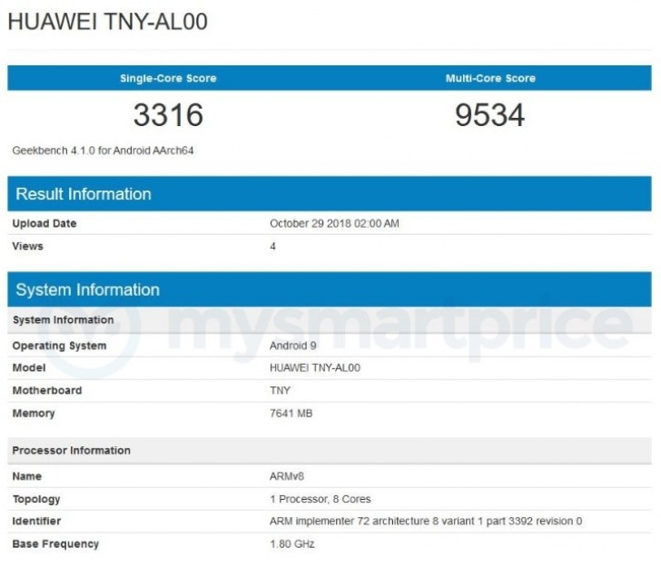 Huawei Honor Magic 2 spotted at Geekbench