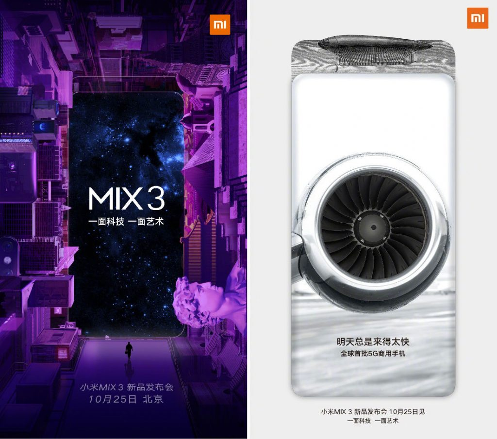 Xiaomi Mi Mix 3 launch invite