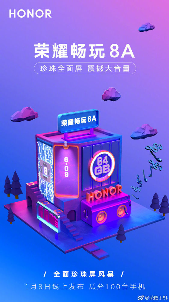 Huawei Honor 8A invite sent