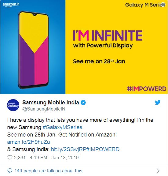 Samsung Galaxy M-Series teaser 1 leaks