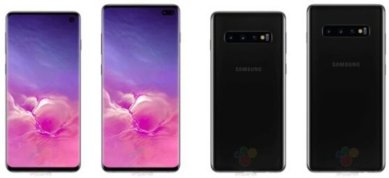 Galaxy-S10-and-S10-Plus renders leak