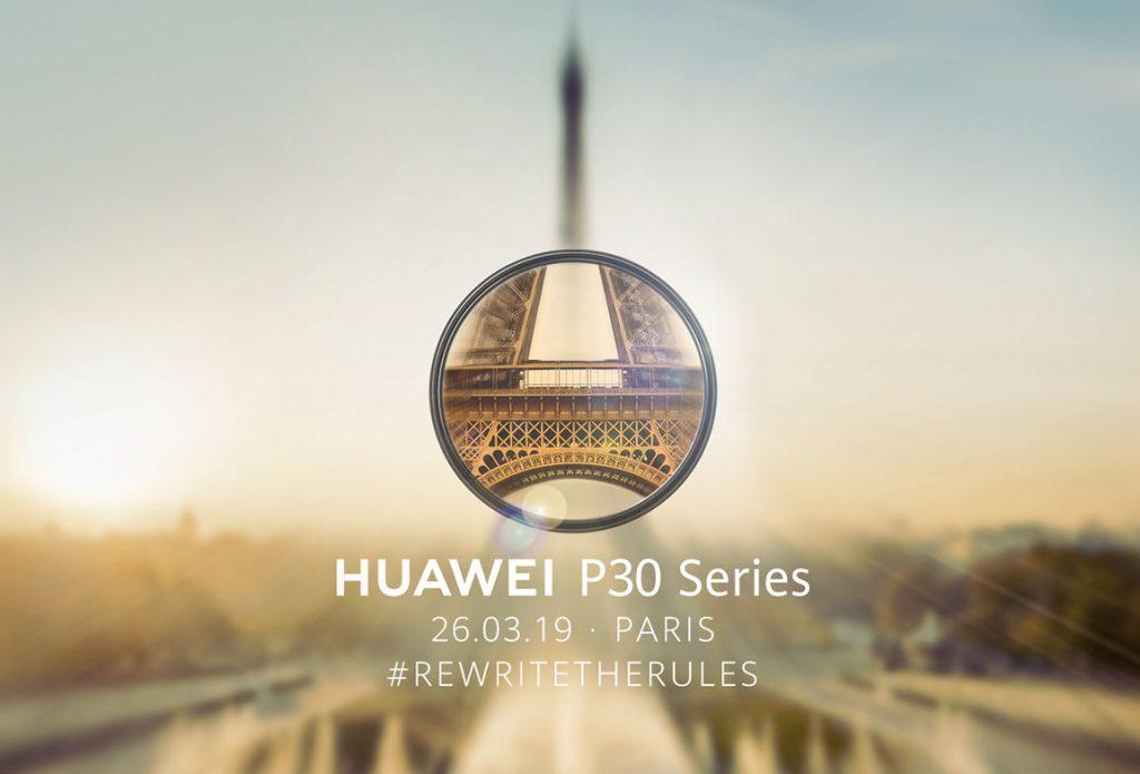 Huawei P30 invite sent