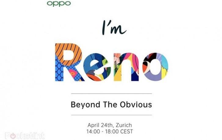 Oppo Reno invite sent