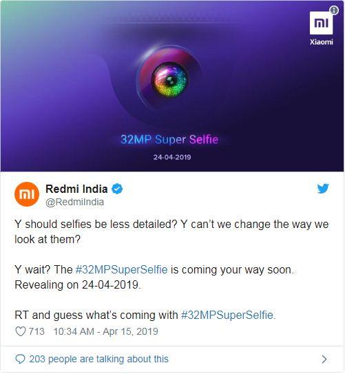 Xiaomi Redmi Y3 image leaks