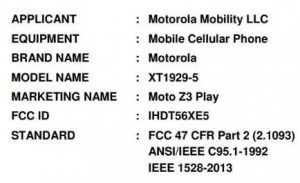 Moto Z3 Play gets FCC Certification