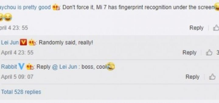 Xiomi Mi 7 coming with fingerprint reader