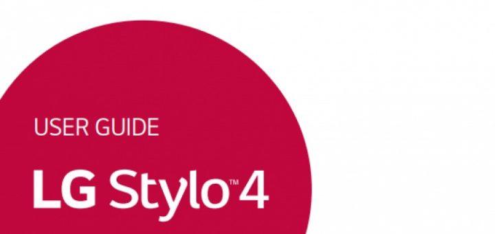 LG Stylo 4 user manual leaked