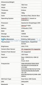 Oppo Find X specs leaked