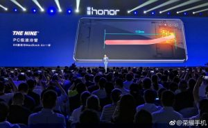 Huawei Honor Note 10 with Nine liquid cooling system