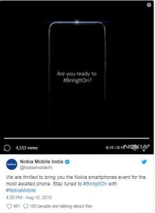 Nokia 6.1 Plus teaser reveals