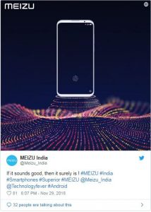 Meizu 16 teaser reveals