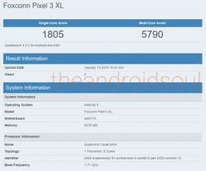 Google Pixel-3-Lite-XL- spotted at geekbench