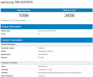 Samsung Galaxy-A20-spotted at benchmark