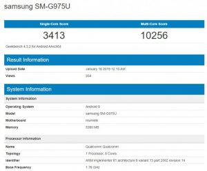 Samsung Galaxy S10+ spotted at geekbench