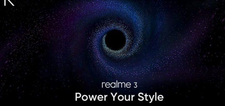 Realme 3 launch invite releases