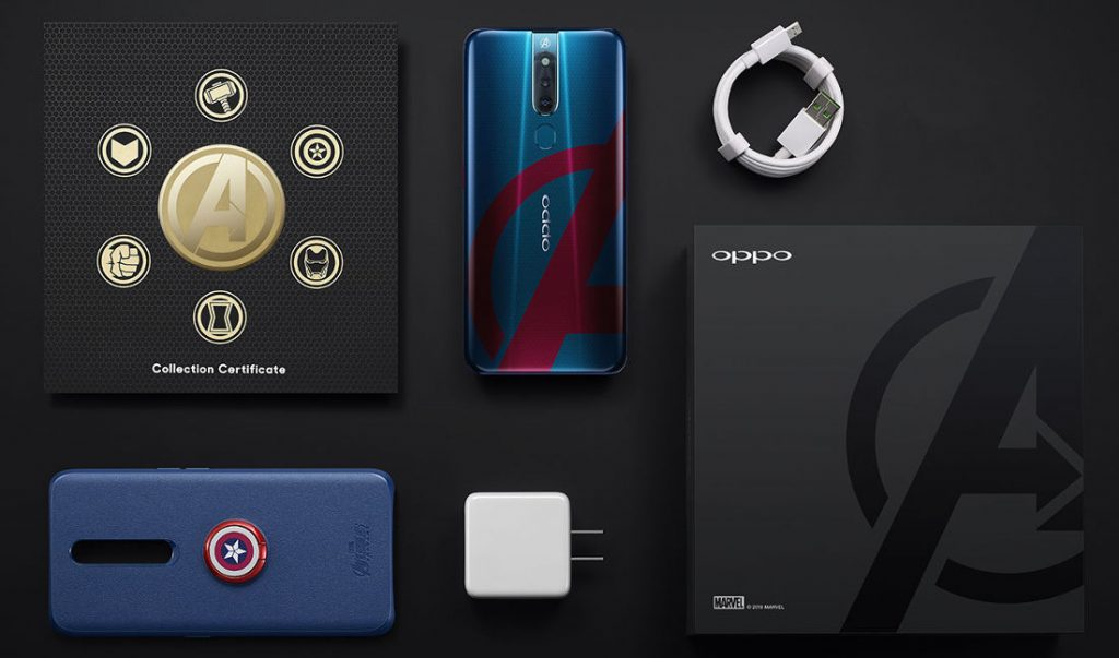 Oppo F11 Pro Avengers Limited Edition Box Contents details