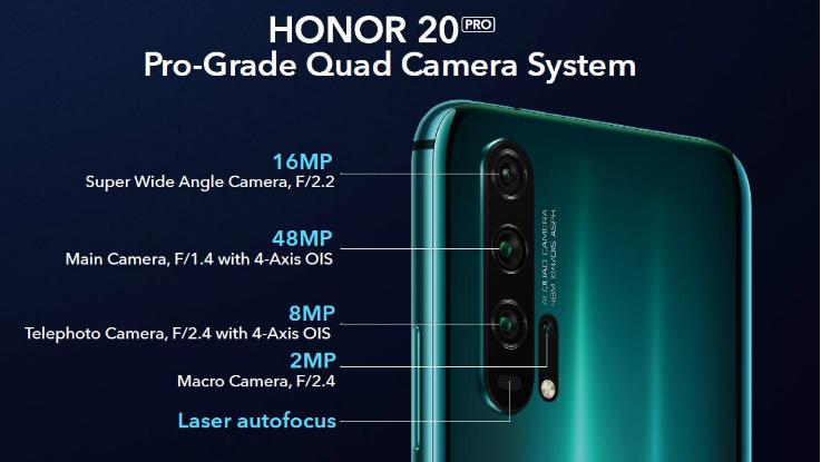 Honor 20 Pro design