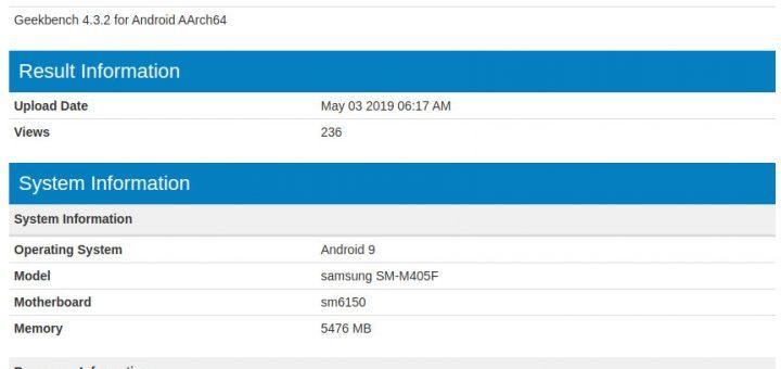 Samsung Galaxy M40 Geekbench listing