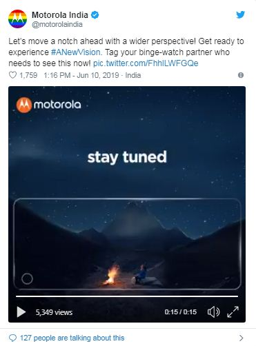 Motorola One Vision may hit the Indian market on 20th June
