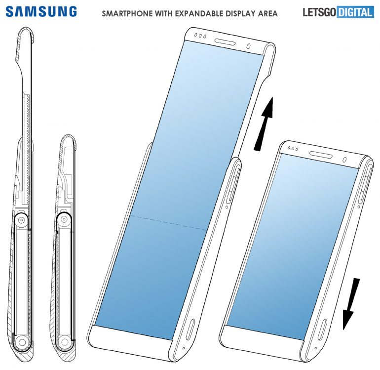 Samsung smartphone rollable display