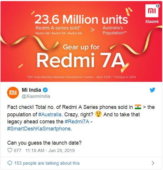 Xiaomi Redmi 7A leaks