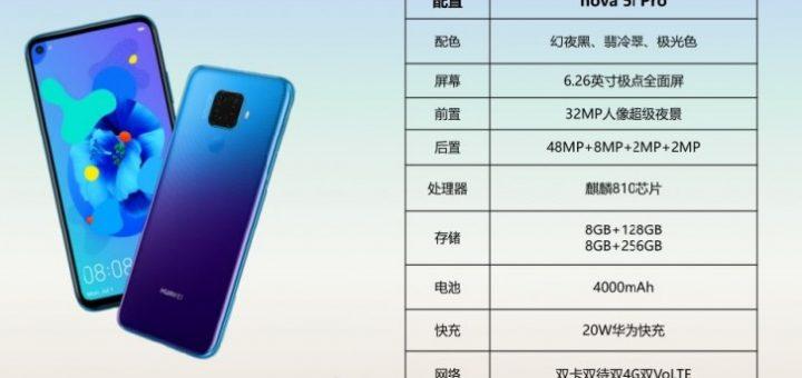 Huawei Nova 5i Pro specs leak