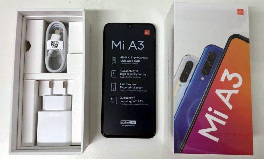 Xiaomi Mi A3 box leaks
