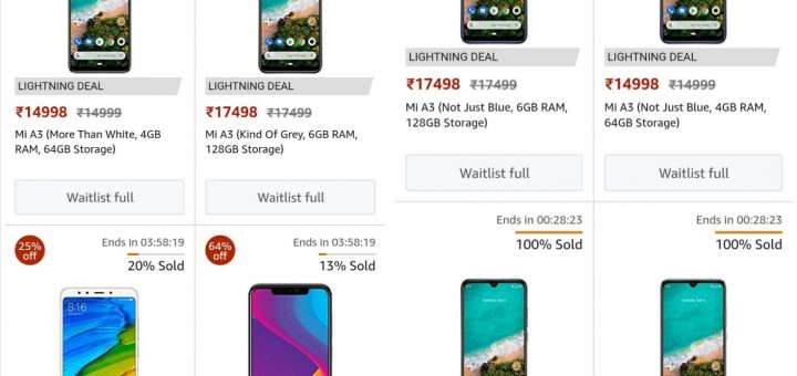 Xiaomi Mi A3 price listing leaks