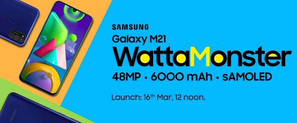 Samsung Galaxy M21 invite releases